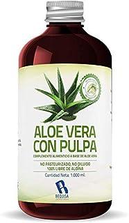 Jugo Aloe Vera Puro | Producto Concentrado a base de Jugo de Aloe Vera Con Pulpa - Suplemento Para Regular el Transito Int...