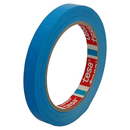 TESA Klebeband Markierungsband tesafilm 4204 PVC, 12mmx66m, blau/Ideal für Tischabroller und Beutelverschlußmaschinen, 12 Stück