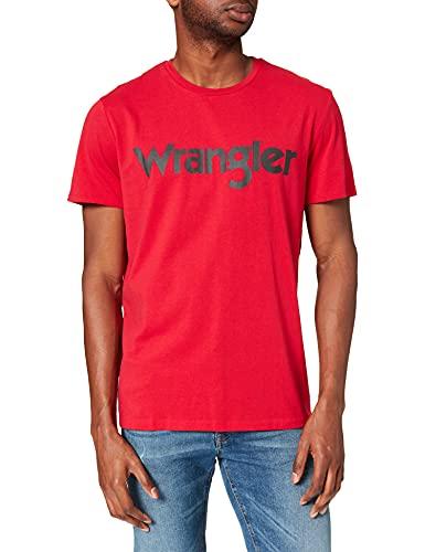 Wrangler Logo tee Camiseta, Infrarojo, M para Hombre