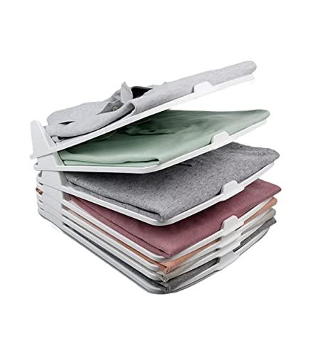 TIENDA EURASIA® Pack 6 - Organizador de Camisas de Plastico Apilables - Organizador Ropa - Organizador Armario - 35,5 x 29,5 x 7,5 cm