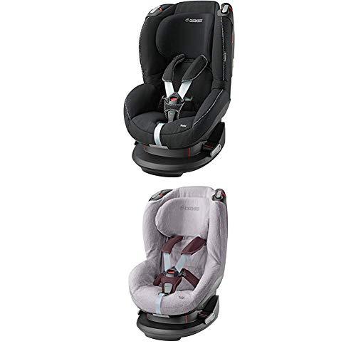 Maxi-Cosi Tobi, Kindersitz mit fünf komfortablen Sitz- und Ruhepositionen, Gruppe 1 Autositz (9-18 kg), nutzbar ab 9 Monate bis 4 Jahre, digital black + Sommerbezug, cool grey
