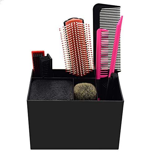 Noverlife Soporte para tijeras para peluquería, gran caja de almacenamiento organizador de tijeras de encimera con divisores para peluquero, estilista, peluquero de mascotas