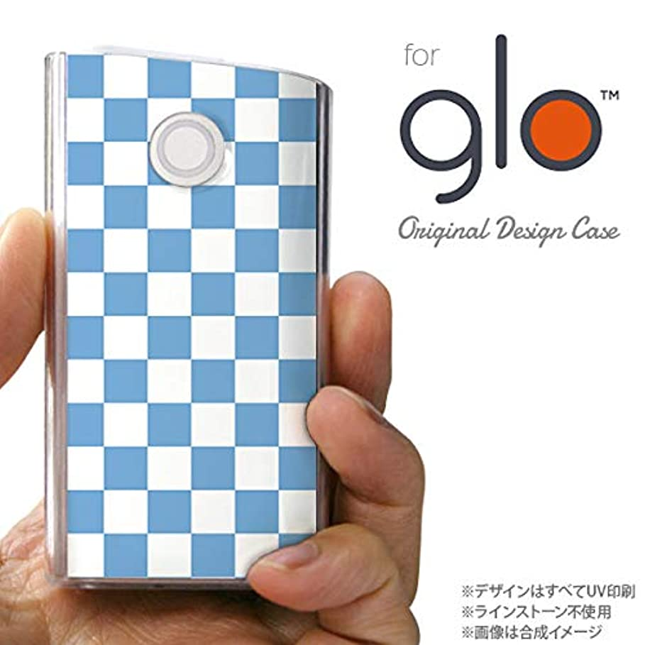 ガイド女王アルコールglo グローケース カバー グロー スクエア 白×青 nk-glo-766