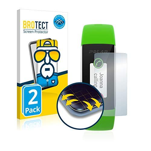 BROTECT Full-Cover Schutzfolie kompatibel mit Polar A360 (2 Stück) - Full-Screen Bildschirmschutz-Folie, 3D Curved, Kristall-Klar