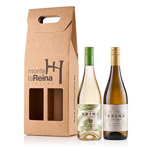 Vino Frizzante, vino blanco verdejo - 5,5 alcohol- Con un Sabor Suave, Agradable y Vivo I Espumoso – Semidulce - VINO FRIZZANTE REINA (PACK 2 FRIZZANTES BLANCOS)