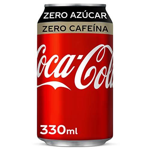 Refresco Individual de cola Coca Cola Zero sin cafeína lata 33 cl