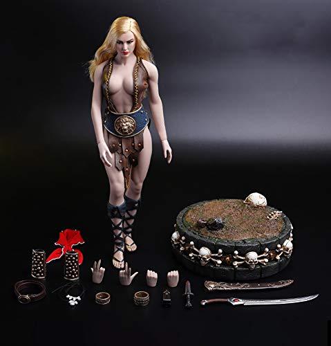 Delili 1/6 Nahtlose Weibliche Action Figur ARHIAN Pirate Bewegtfigur Superflexibles Puppen-Set Modellspielzeug Zum Verschenken