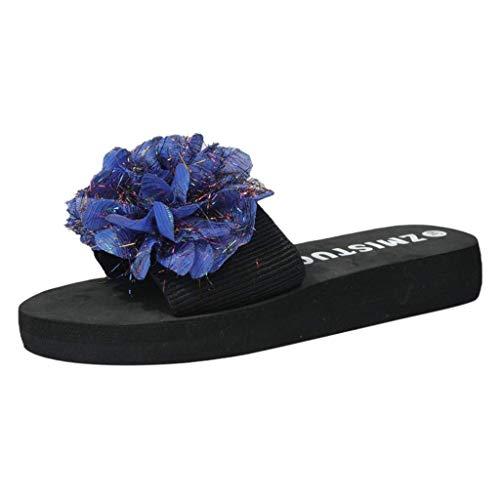HUADUO Sandalias de Piscina para Mujer, Sandalias Planas Informales para Mujer, Zapatos de Verano Suaves y acogedores, Suela de Goma Antideslizante