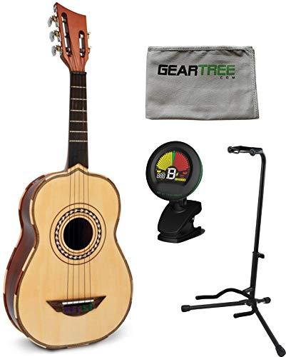 H. Jimenez El Quetzal LV2 Vihuela 5-String Acoustic w/Gig Bag, Tuner, Stand, and Cloth