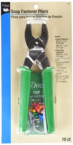 Dritz 16P Snap Fastener Pliers, Size 15 (3/8-Inch) & Size 16 (7/16-Inch), Metal