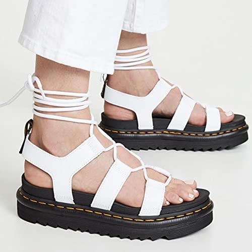 DZQQ Sandalias de Verano con Plataforma de cuña para Mujer, Zapatos cómodos...