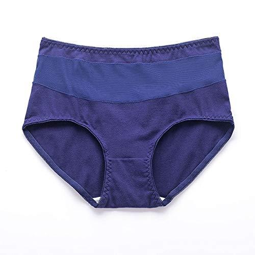 Heliansheng Ropa Interior de Mujer Sexy Encaje Transparente de algodón a Media Cintura Bragas Ropa Interior de mujer-F06-XL 57-65kg