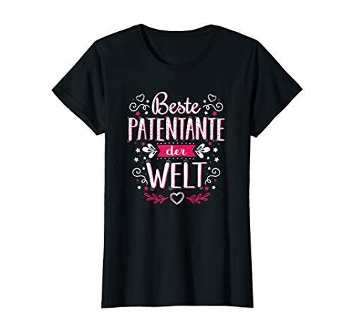 Damen Beste Patentante der Welt Shirts Sprüche Lustig Geschenkidee