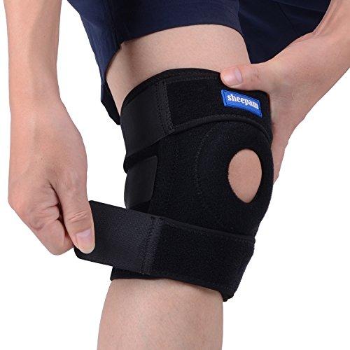 Protección Profesional de Rodillas Sheepam,Rodillera Ajustable Totalmente, Seco y Transpirable, Proteger la Rodilla del Menisco, Estable sin Deslizamiento,la Rodilla Admite la Protección de Artritis