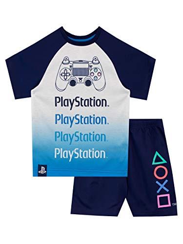 PlayStatiob Pijamas de Manga Corta para niños Azul 11-12 Años