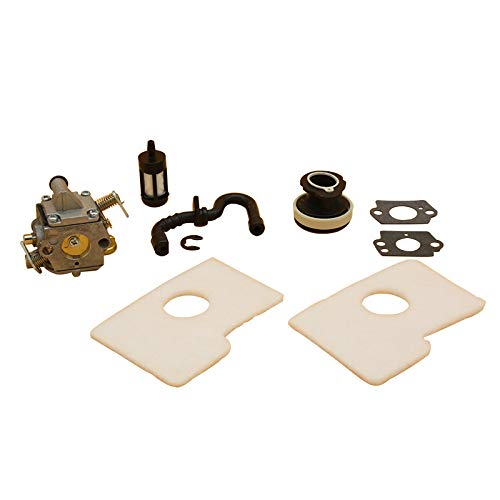 love lamp Carburador Kit de colector de la Ingesta del Filtro de Aire del carburador Ajuste Compatible con STIHL MS 180 170 MS180 MS180C MS170 018 017 Piezas de Motosierra de Gas Zama Carbo Engine