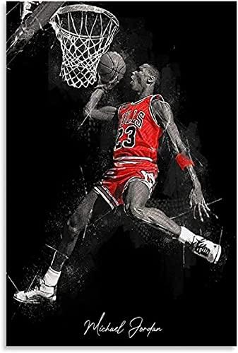 FAZHWEI Cuadro en Lienzo 60x90cm Sin marco Póster De Michael Jordan Bar Decoración Del Hogar Impresiones En Lienzo Baño Arte Impresión