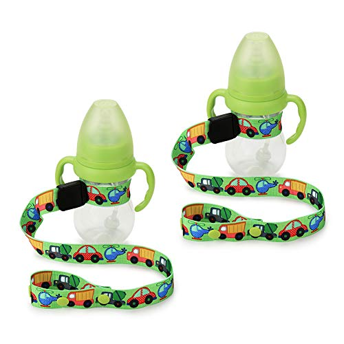 Baby Sippy Cup Strap by Accmor, Adjustable Bottle/Cup Strap, Toddler Drink and Baby Bottles Holders and Toy Clips, Stroller, High Chair and Car Seat Universal Attachment Strap,2 Pack
