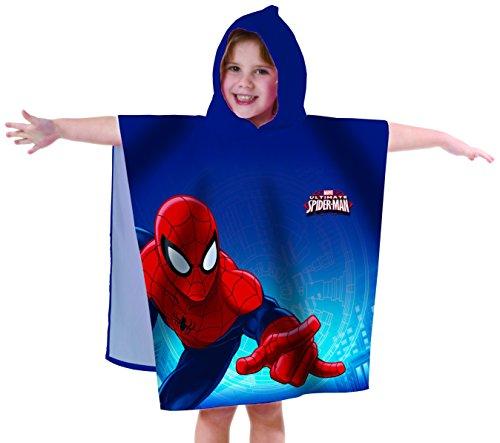 Spiderman Badeponcho, Blau