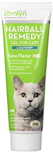 Tomlyn Laxatone - Gel de remedio para Gatos y Gatitos con Sabor a atún, 2.5 onzas