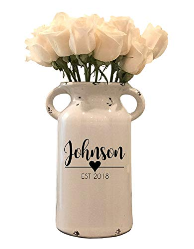 Personalized Ceramic Milk Can - Personalized Milk Can - Personalized Wedding Gifts - Farmhouse Milk...