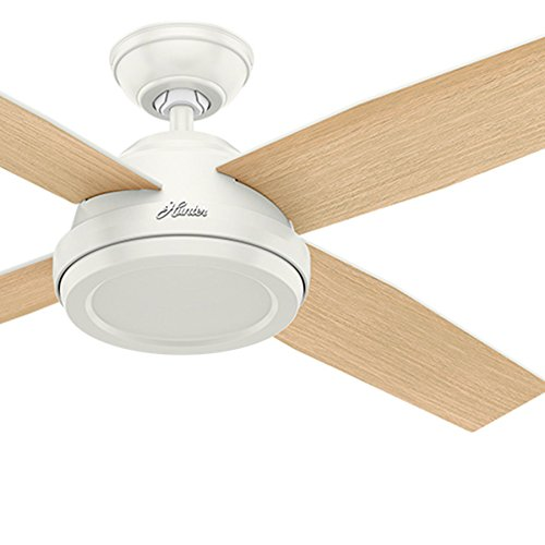 Hunter Fan 52 inch Contemporary Ceiling Fan without Light and Remote Control (Renewed)