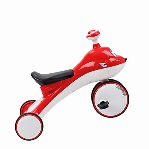 SONG Standardkinderwagen Baby-Dreirad Innen- und Außen Kombination aus Dreirad Baby Fahrrad-Kinder Dreirad Jungen und Mädchen des Kinderwagens 1-3-5 Jahre alt (Color : Red)