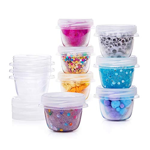 Rubbermaid Slime and Craft Storage Containers, 10 Piece Set, Clear