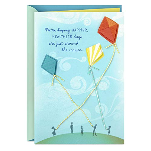 Hallmark Get Well Soon Card, Thinking of You Card, Encouragement Card from All of Us (Kites) (699RZB1425)
