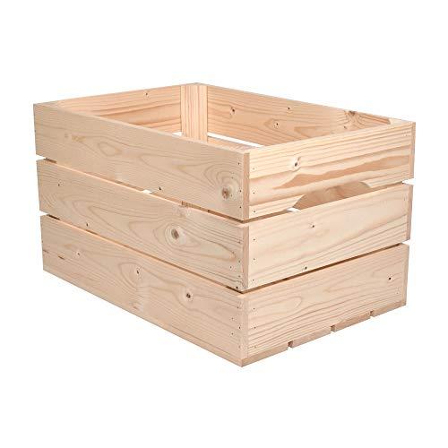 Simply a Box Caisse en Bois Standard (L.54 x l.36 x h.30) Fabriquée Main en France