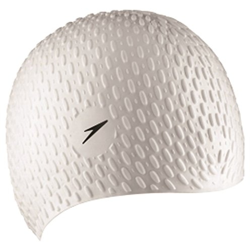 Speedo Bubble Gorra de Natación, Adult Female, Blanco, Talla única