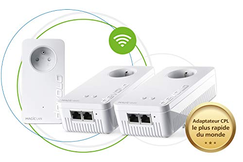 devolo Magic 2 WiFi Next: Das schnellste Multiroom Powerline-Kit der Welt (2400 Mbit/s, 5 Gigabit Ethernet-Ports) ideal Telearbeit und Streaming