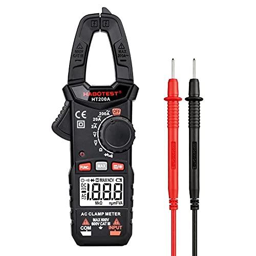 SP-COW Pinza amperimétrica profesional digital 2000 cuentas, multímetro amperímetro con rango automático; Mide 600V AC / DC Voltaje Probador, Corriente AC, Resistencia, Continuidad; Prueba de diodos