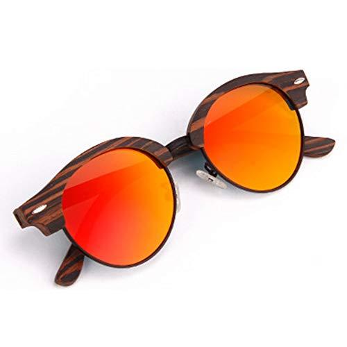 Bradoner UV400 Gafas de sol de moda rojas para hombres y mujeres gafas de sol clásicas de bambú
