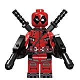 Deadpool Minifigure Action Figure with Weapons an Base Plate by A&M Prime Supplies