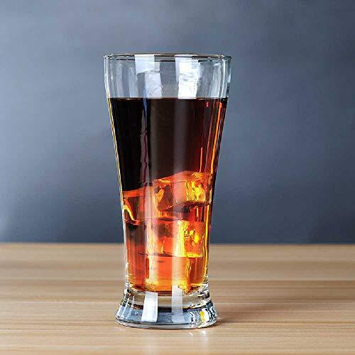 wamgwei Boccale Di Birra Alto in Vetro Boccale Di Birra Svasato Boccale Di Birra Tedesco 400 ml/colore trasparente