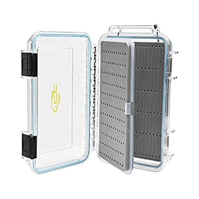 SF Fly Fishing Box with Magnetic Release Double Sided Waterproof Plastic Foam Fly Boxes with Removable Foam Sheets