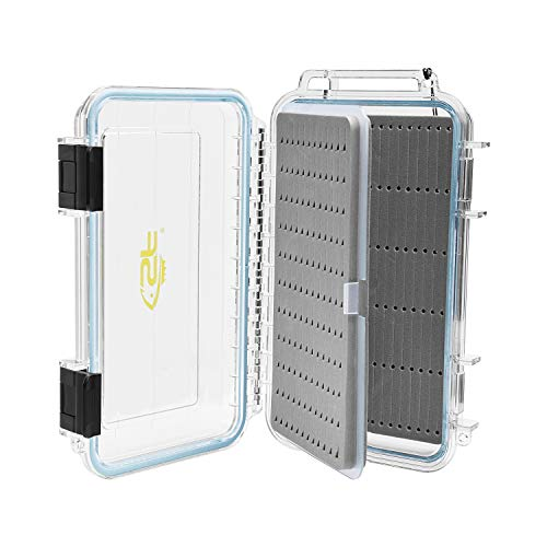 SF Fly Fishing Box Double Sided Waterproof Plastic Foam Fly Boxes with Removable Foam Sheets
