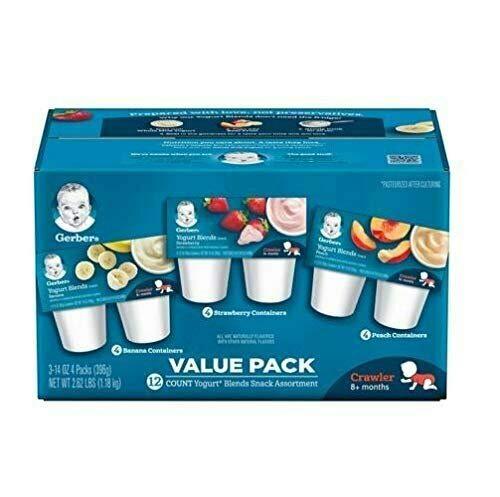 Yummy Gerber Yogurt Blends Assortment Snacks, 12 Count, Net Wt. 2.62 lb