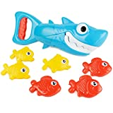 Boley Shark Grabber Fishing Game Set - 7 Piece Bathtub Toys with Grabber and Small Fish - Sinking Kids Bath Toys for Toddlers Ages 3 and Up