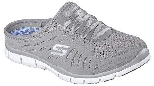 Skechers Sport Women's No Limits Grey Slip-On Mule Sneaker 7.5 M US