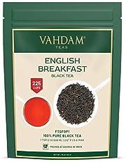 Desayuno inglés original Hojas de té negro, 454 gramos (200 tazas) FUERTE, RICO Y AROMÁTICO, Té de hojas sueltas, el mejor té negro del mundo Hojas sueltas, FTGFOP1 Hoja de grado largo de la India