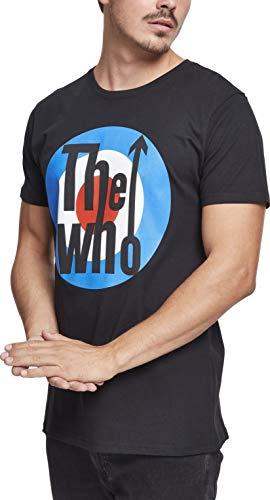 MERCHCODE Herren The Who Classic Target Tee T-Shirt, Black, M
