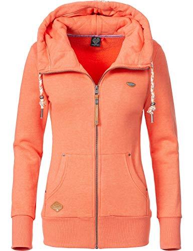 Ragwear Damen Zip-Hoodie Kapuzenjacke Sweatjacke Neska Zip Orange Gr. S