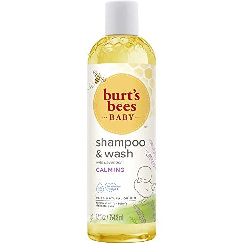 Burt's Bees Baby Shampoo & Wash, Calming Tear Free Baby Soap - 12 Ounce Bottle