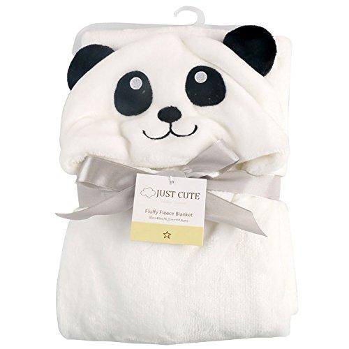 Tongchou 3D del Bebe Recien Nacido con Capucha Bano Manta Toalla de Bano Panda linda