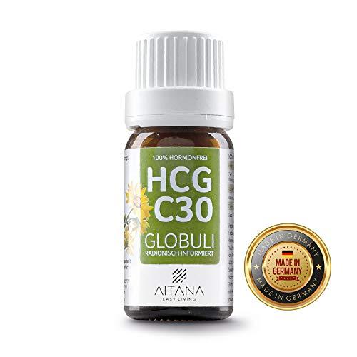 HCG Globuli - Potenz C30 für Stoffwechselkur (HCG Diät) - 100% hormonfrei - deutscher Hersteller und Apothekenqualität - inklusive praktischem E-Book