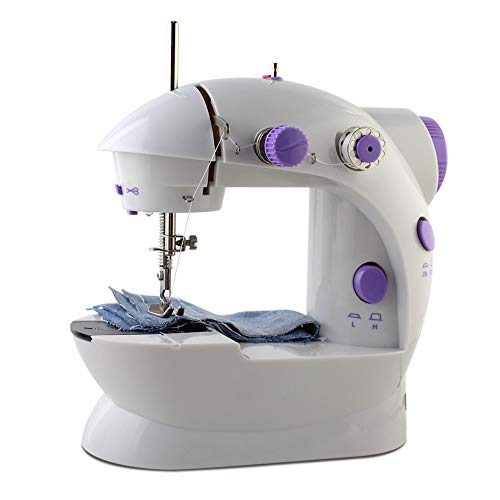 Best Prices! Mini Sewing Machine, Portable Adjustable 2 - Speed Double Thread Sewing Machine for Beg...