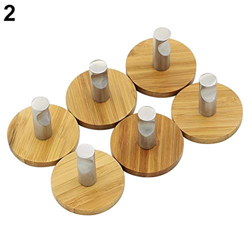 6Pcs Adhesive Sticky Natürliche Bambus...