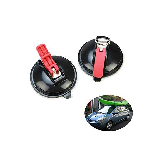 Saugnapf Haken für Gepäckspanner Auto Spanngurte, 2er Set Saugnapf mit 4 S Haken, Saugnapfhalterung Bis Zu 23kg für Haushalt und camping